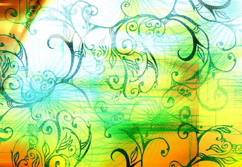 Digitale lijnen en vormen royalty-vrije illustratie