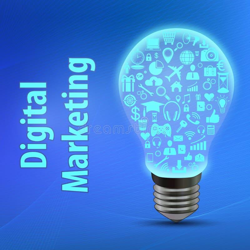 Digitale marketing conceptie royalty-vrije illustratie