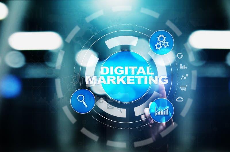 Digitale marketing die, online, SEO, SEM, SMM adverteren Zaken en Internet-concept royalty-vrije stock afbeeldingen