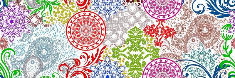 Digitale Mehrfarbenfliesen entwerfen für Innenraum, Badezimmer und caremic Wandfliesen entwerfen, Hintergrund, Illustration, Lino lizenzfreie abbildung