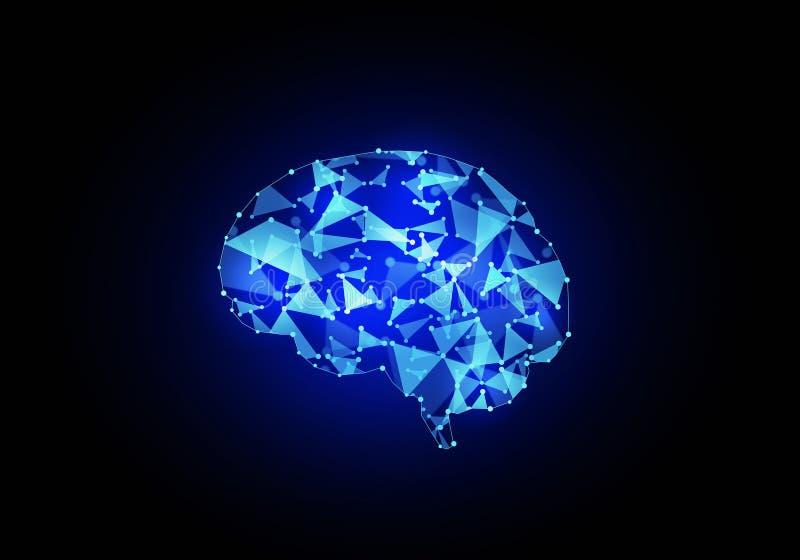 Digitale menselijke hersenen vector illustratie