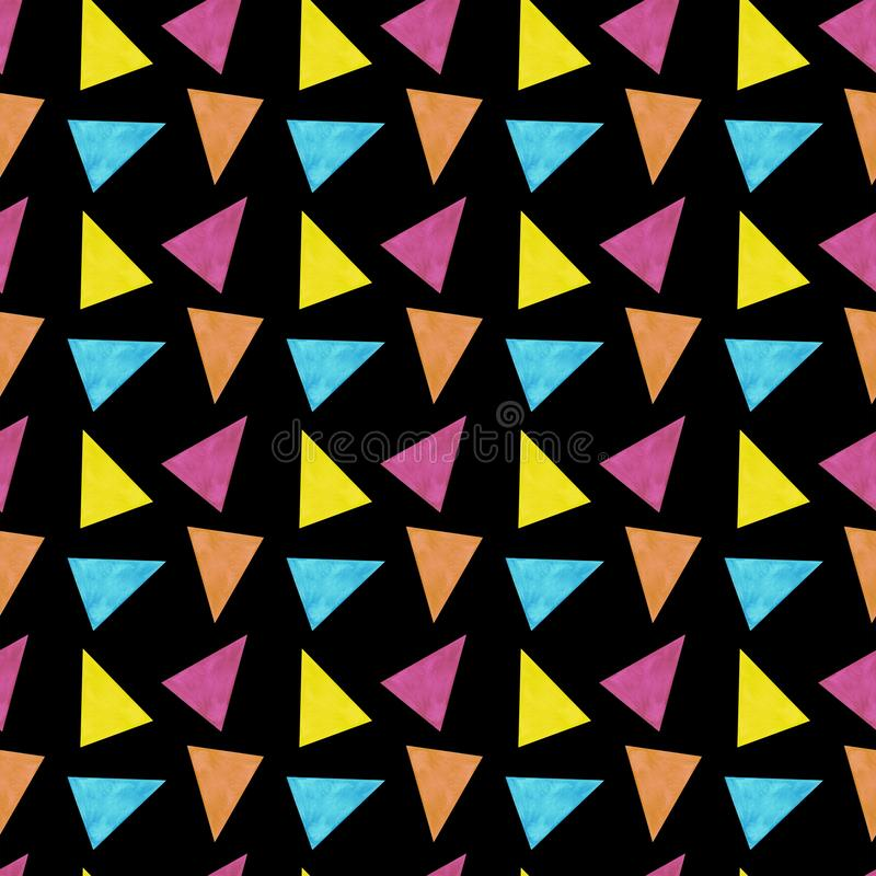 Digitale Papiergewebe der nahtlosen Musteraquarellillustrationshintergrund-Beschaffenheiten der Musterdreiecke abstrakten tapezie lizenzfreie abbildung