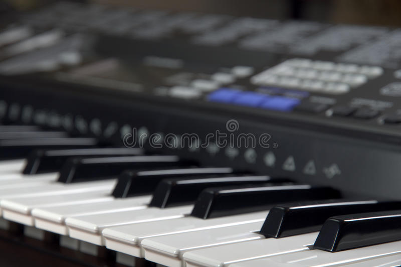 Digitale piano royalty-vrije stock fotografie