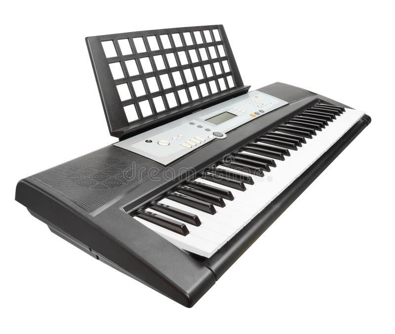 Digitale pianosynthesizer stock afbeeldingen