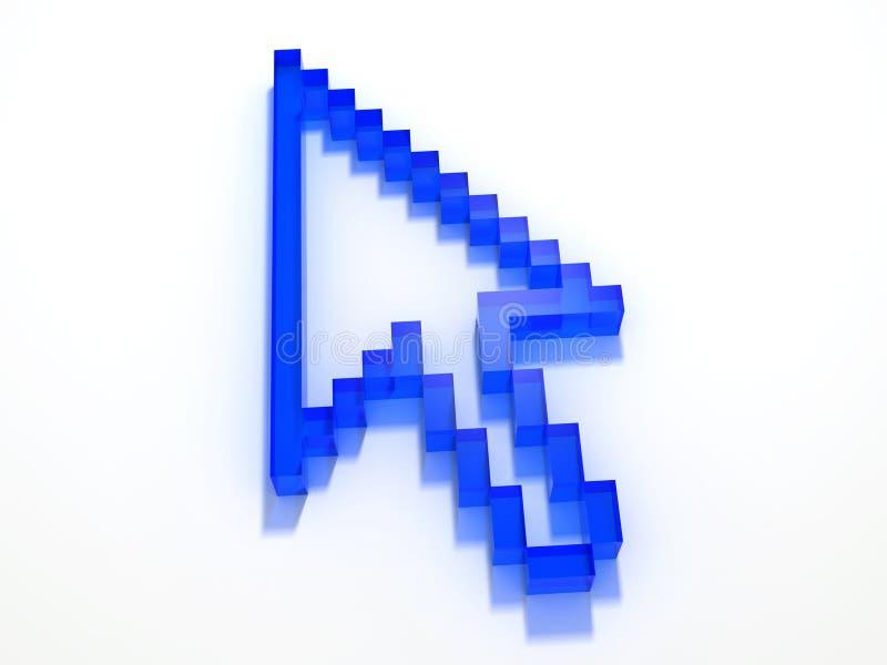 Digitale pijl royalty-vrije illustratie