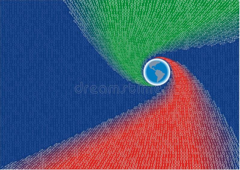 Digitale planeet vector illustratie
