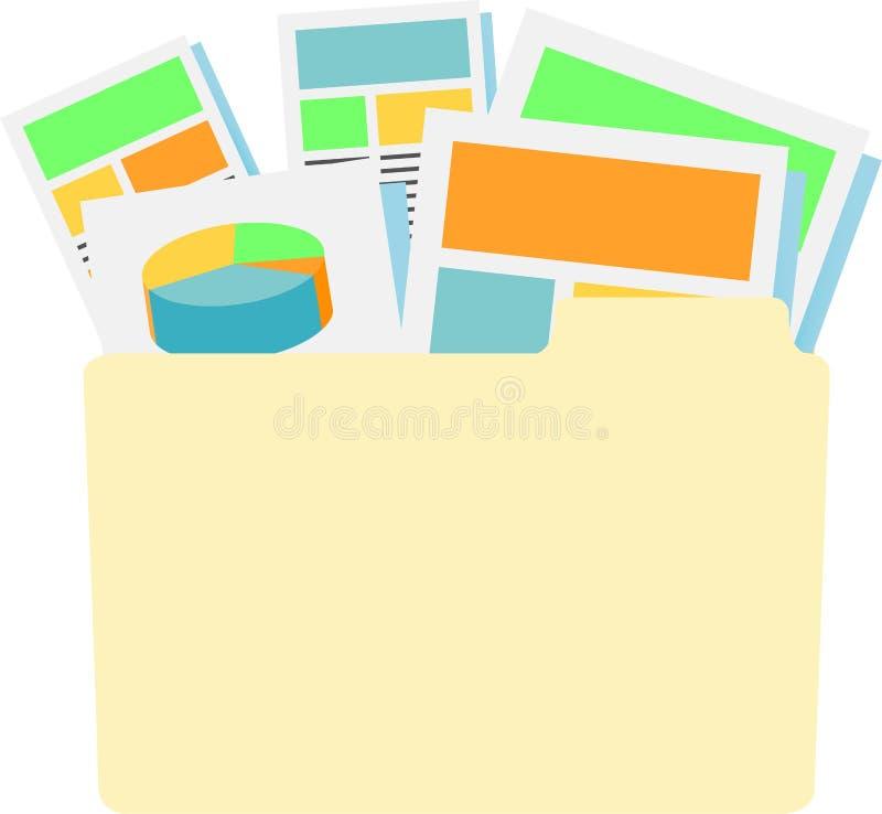 Digitale Producten met Zakelijk onderpand royalty-vrije illustratie