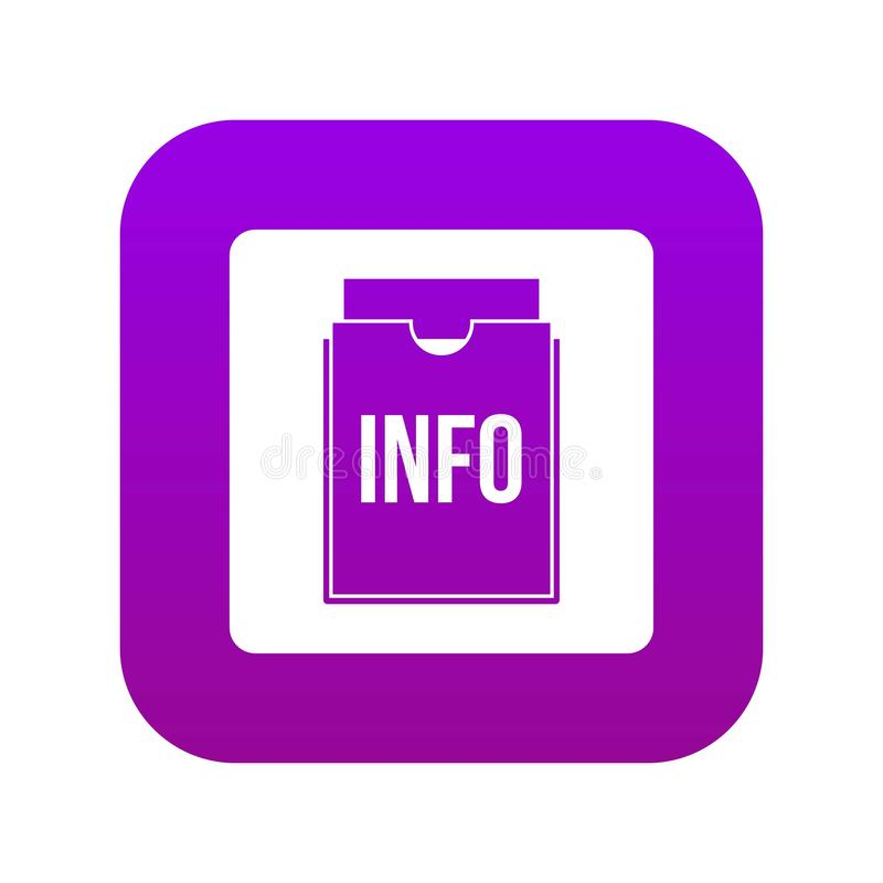 Digitale purple van het informatiedossierpictogram vector illustratie
