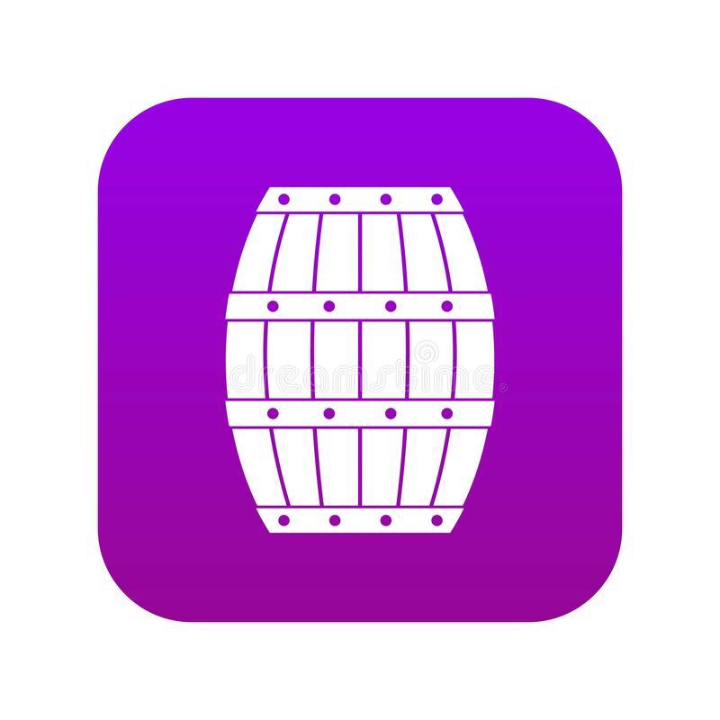 Digitale purple van het vatpictogram royalty-vrije illustratie