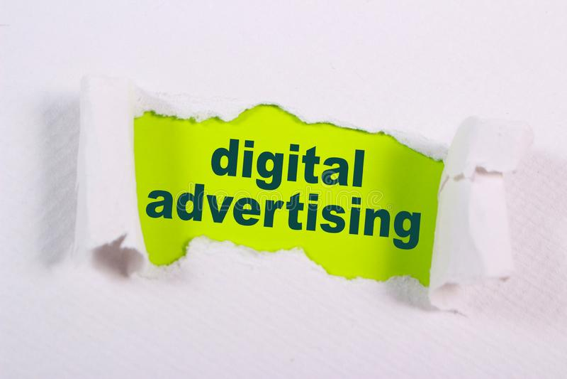 Digitale Reclame, het Motievenconcept van Bedrijfs Marketing Woordencitaten stock fotografie