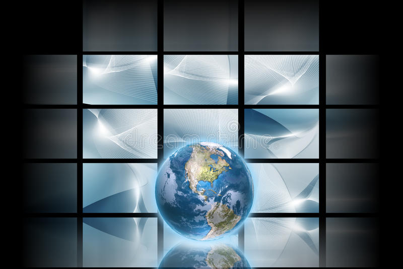 Digitale ruimte stock illustratie