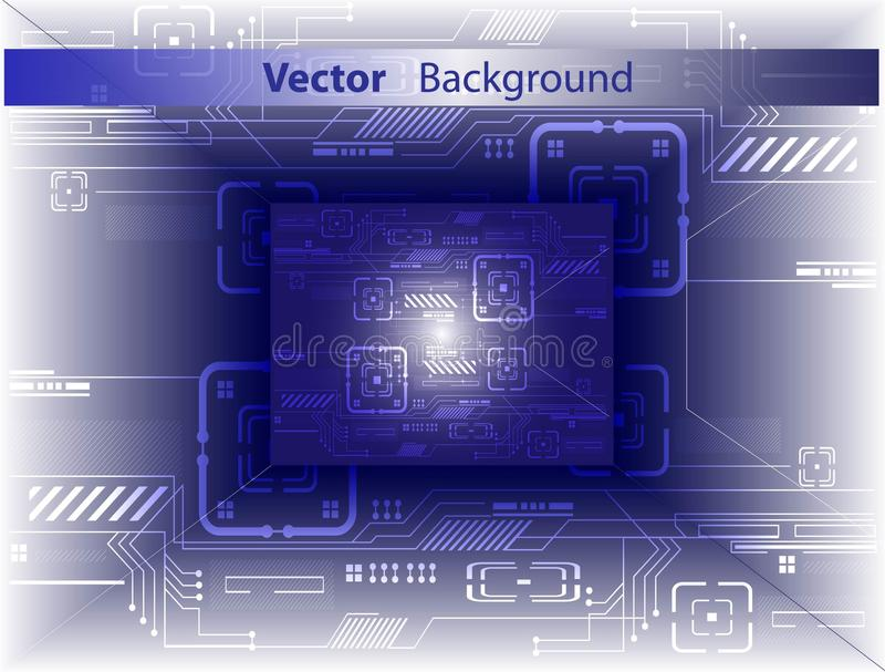 Digitale samenvatting. Vector achtergrond. stock foto