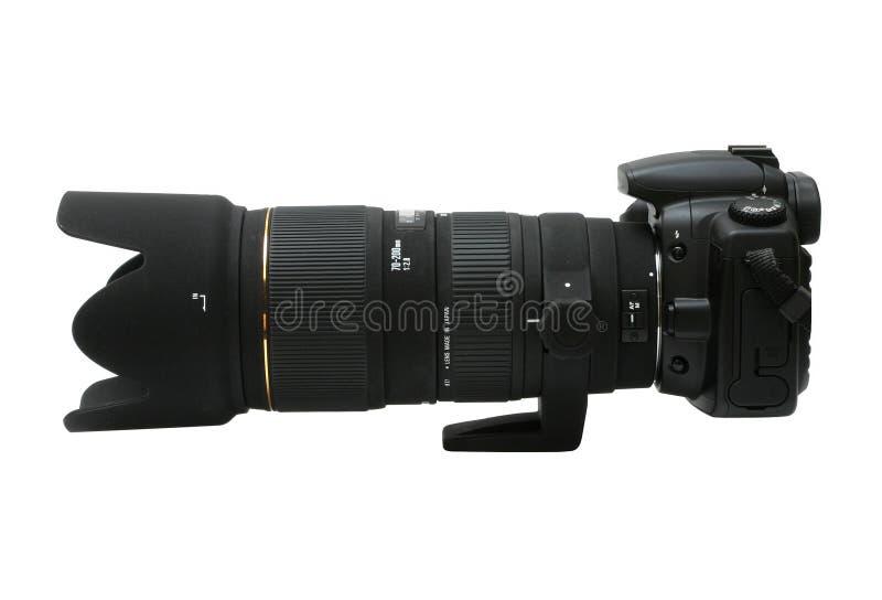 Digitale slr met telephoto royalty-vrije stock fotografie