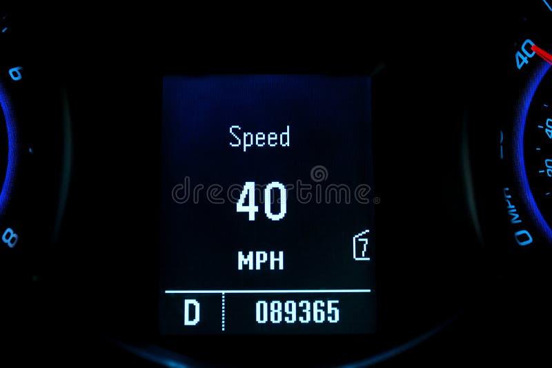 Digitale snelheidsmeter royalty-vrije stock fotografie