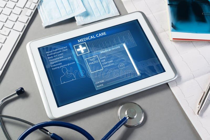 Digitale technologieën in geneeskunde stock foto's