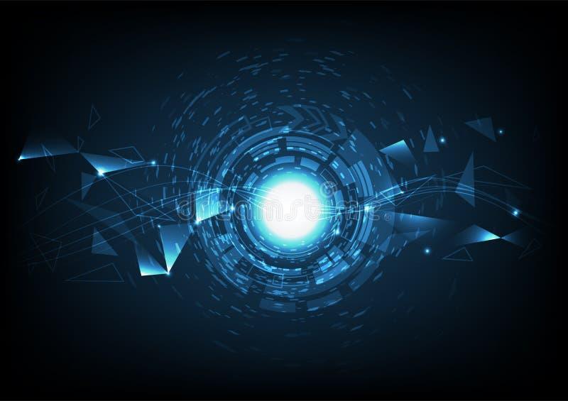 Digitale technologie abstracte achtergrond modern met helder mengsel royalty-vrije illustratie