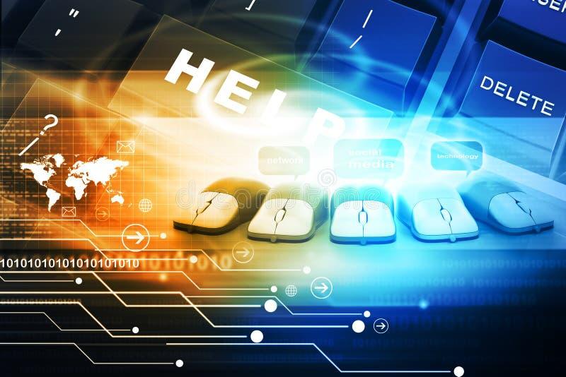 Digitale technologieachtergrond stock illustratie