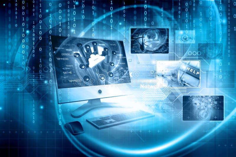 Digitale technologieachtergrond royalty-vrije stock afbeelding