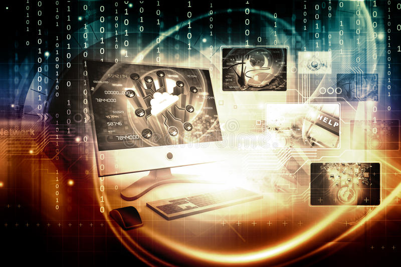 Digitale technologieachtergrond royalty-vrije illustratie