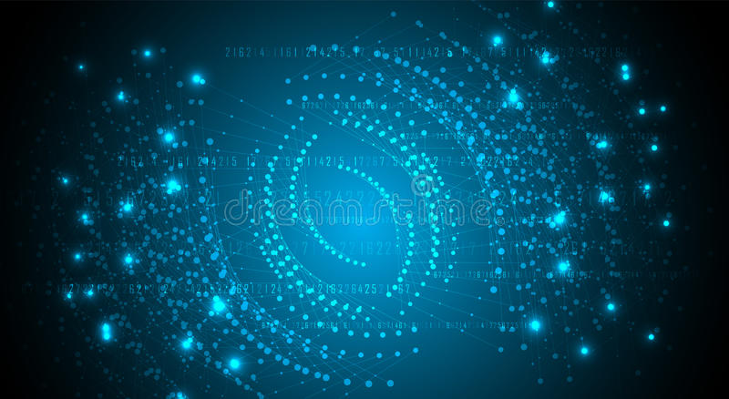 Digitale technologiewereld Bedrijfs virtueel concept Vector backg