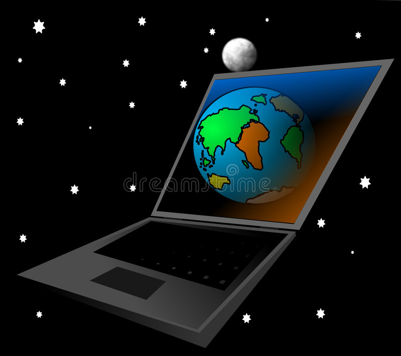 Digitale toekomst stock illustratie