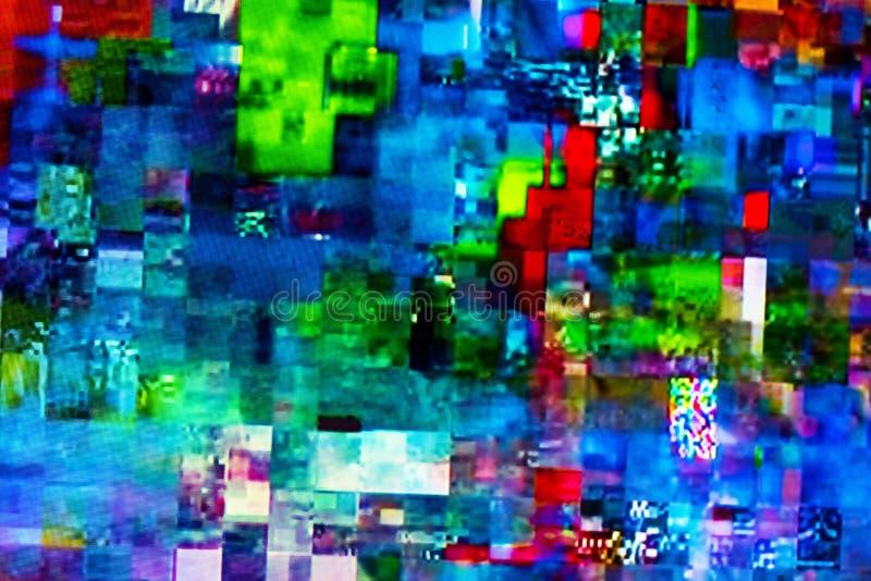 Digitale TV-glitch op het televisiescherm stock fotografie