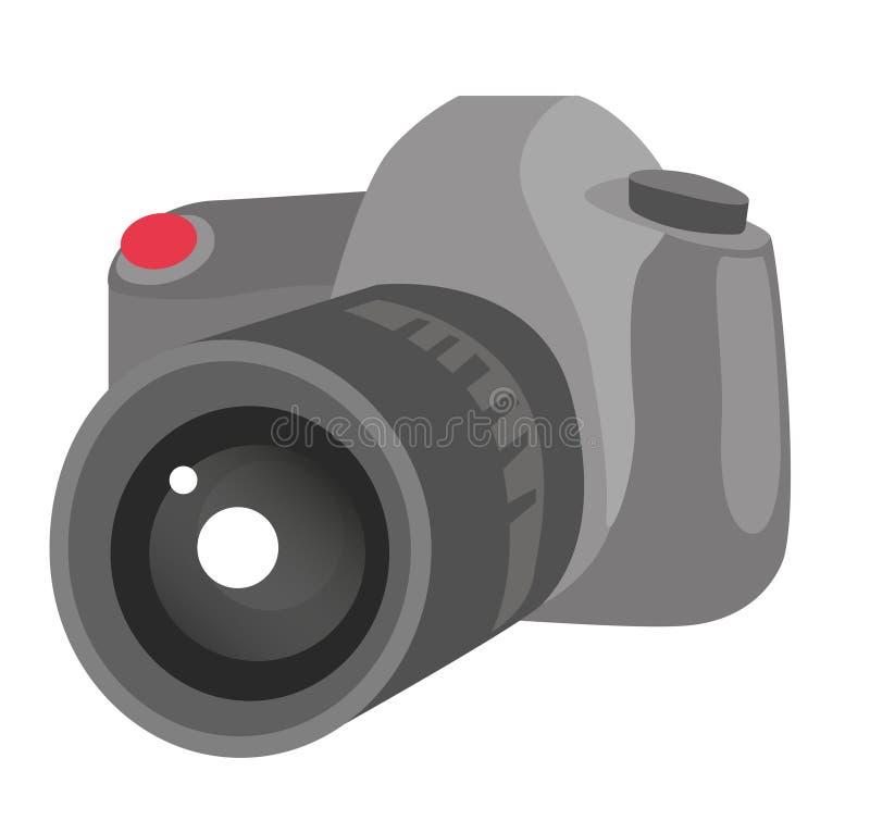 Digitale vector het beeldverhaalillustratie van de fotocamera stock illustratie
