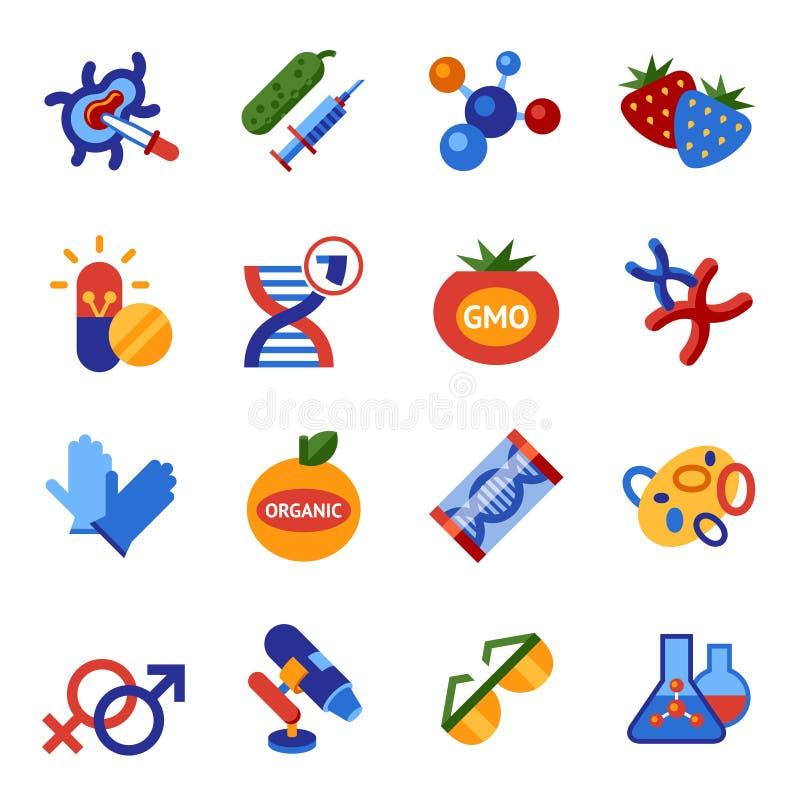Digitale vectorgenetische biologietechnologie royalty-vrije illustratie