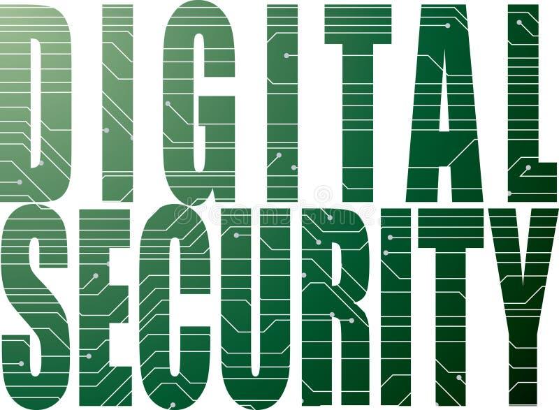 Digitale veiligheid royalty-vrije illustratie