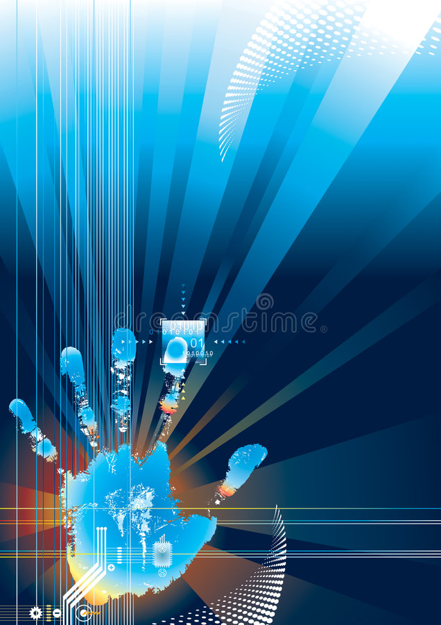Digitale veiligheidsaanraking stock illustratie