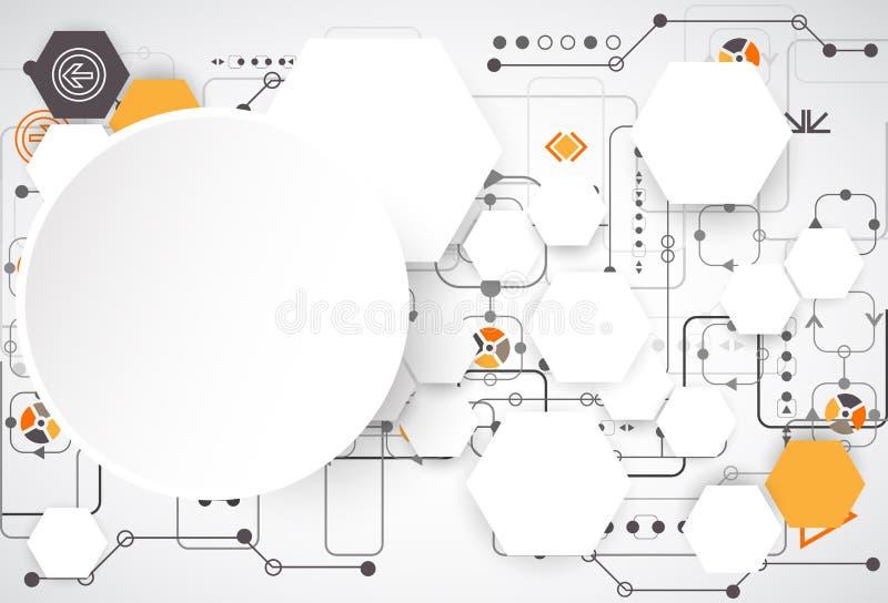 Digitale verbindingsregeling stock illustratie