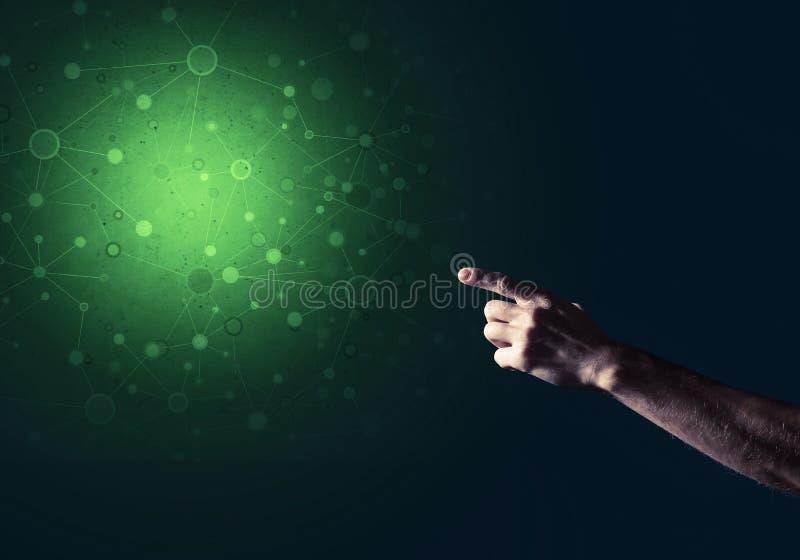Download Digitale Verbindung Des Konzeptes Auf Dunklem Hintergrund Stockfoto - Bild von einheit, schnittstelle: 96927076