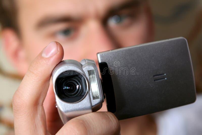 Digitale videocamera royalty-vrije stock afbeeldingen