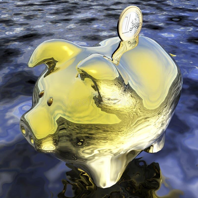Digitale Visualisatie Piggybank stock illustratie