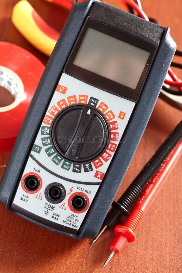 Digitale voltmeter royalty-vrije stock afbeelding