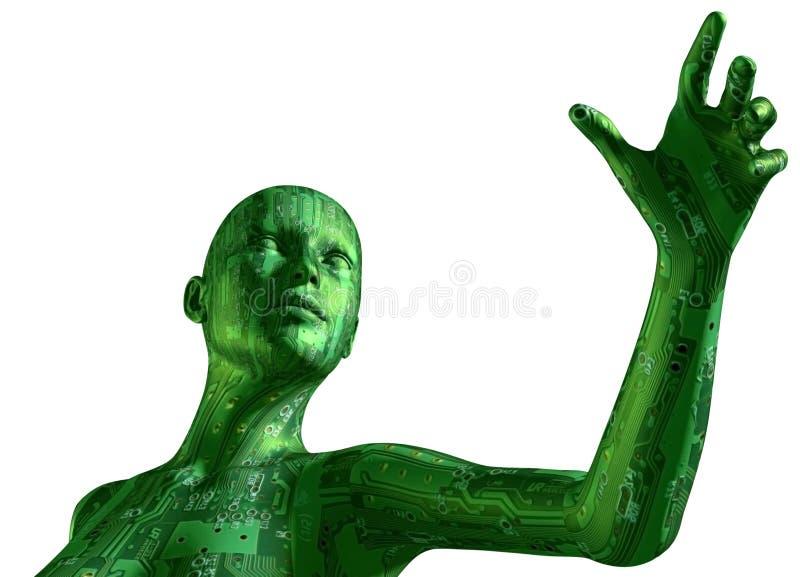Digitale Vrouw vector illustratie