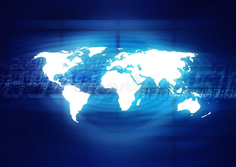 Digitale Wereld royalty-vrije illustratie
