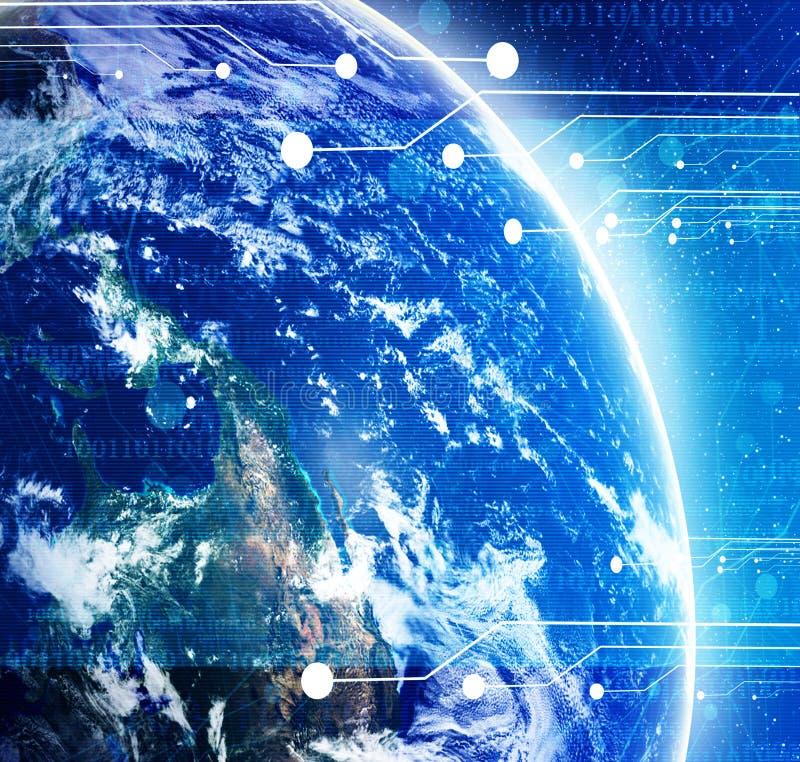 Digitale wereld stock illustratie