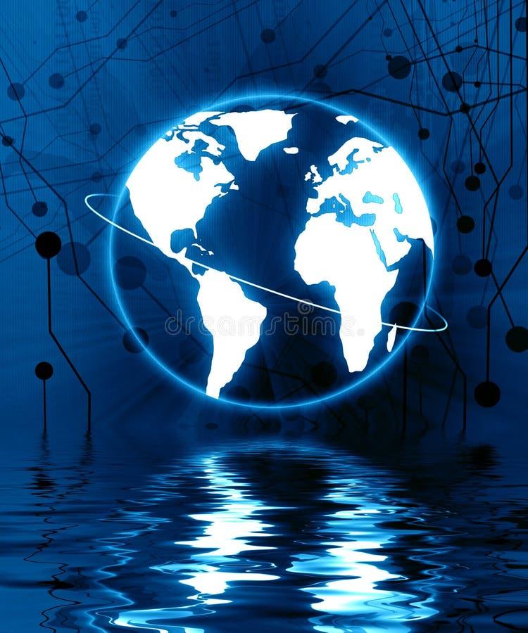 Digitale wereld vector illustratie