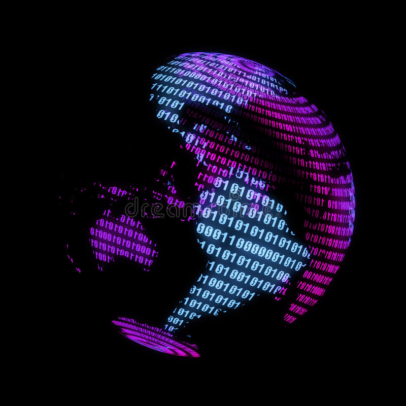 digitale wereldbol royalty-vrije illustratie