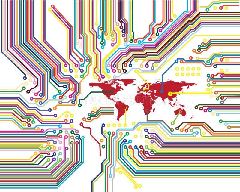Digitale wereldkring stock illustratie