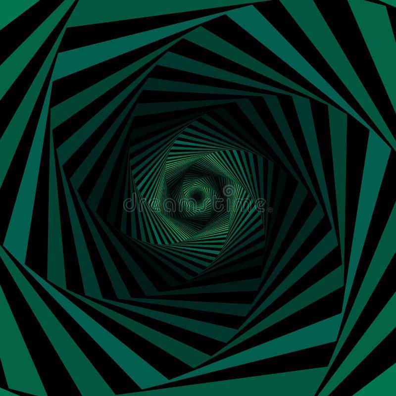 Digitale wervelende groene hexagonale vormen vector illustratie