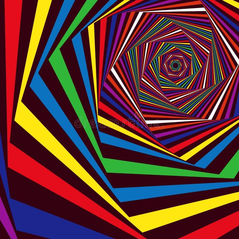 Digitale wervelende veelkleurige hexagonale vormen royalty-vrije illustratie