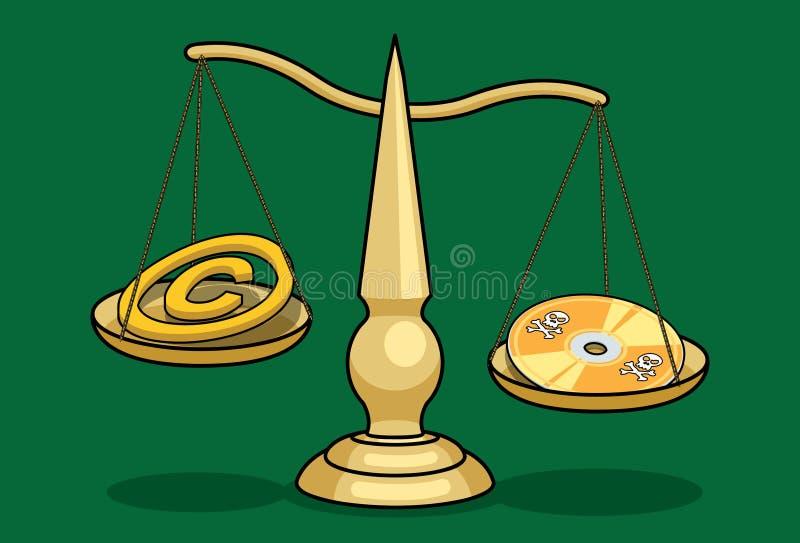 Digitale Wet pt.2 stock illustratie