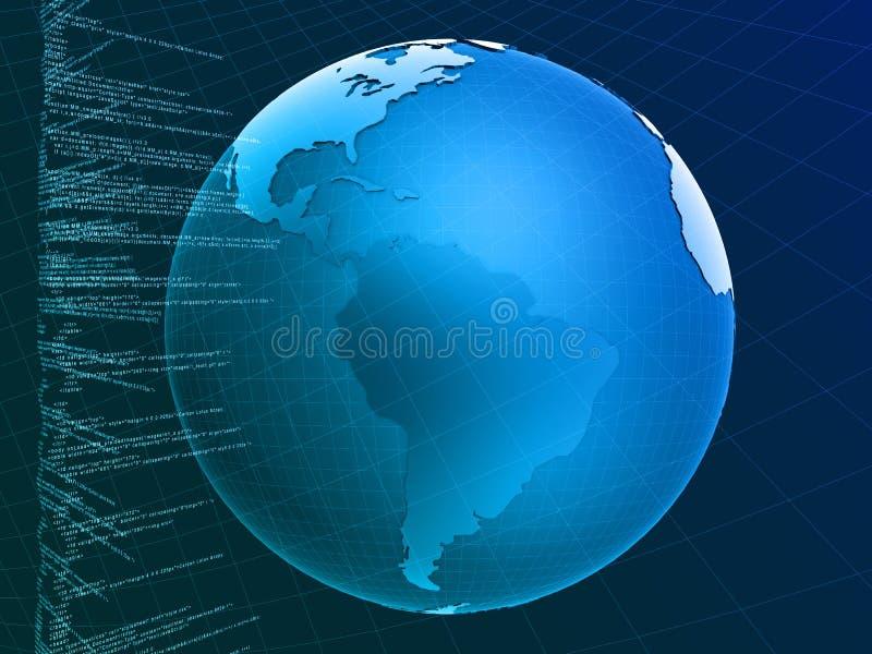 Digitale zaken stock illustratie
