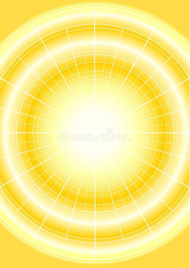 Digitale Zon vector illustratie