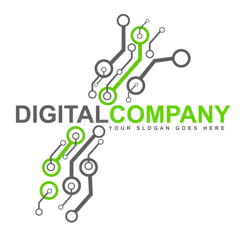 Digitalelektronik-Zeichen stock abbildung