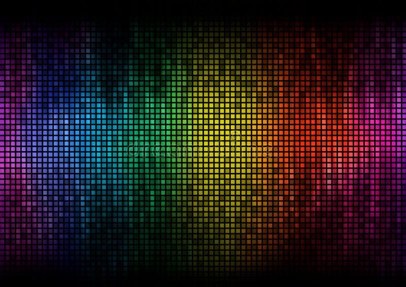 Digitaler Farbbildschirm des Entzerrers lizenzfreie abbildung
