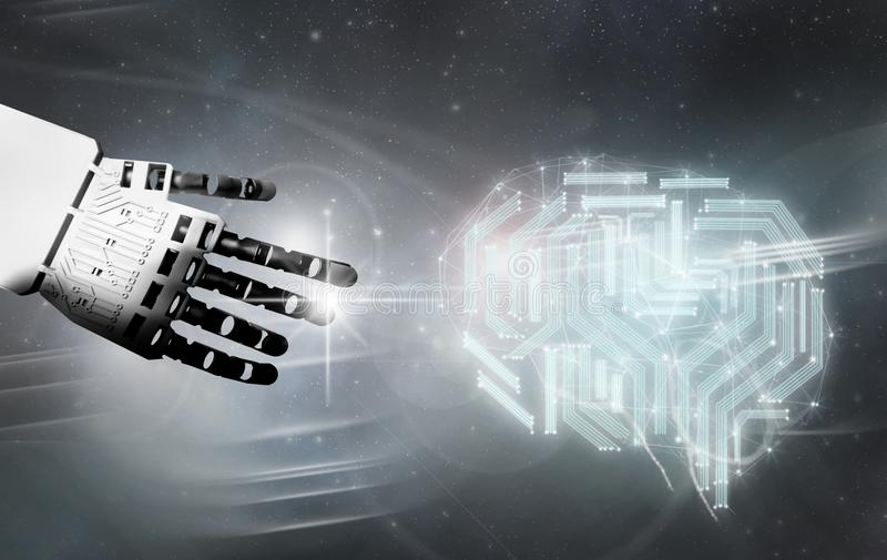 Digitaler Gehirnkontakt des Roboters lizenzfreie stockfotos