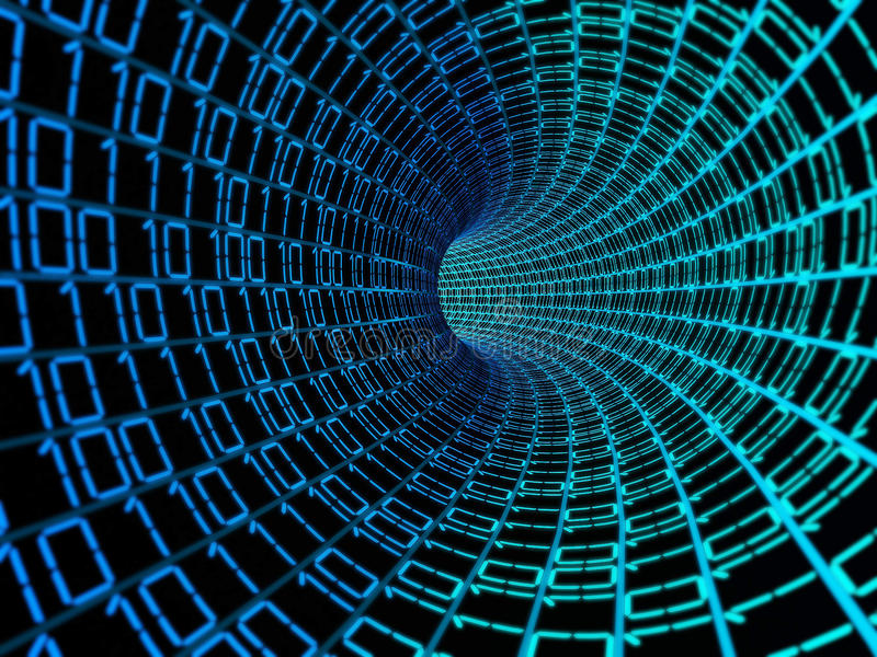 Digitaler Hintergrund der Daten des binären Codes lizenzfreie abbildung